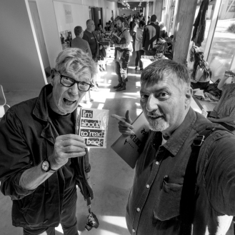 Harvey Benge and Me at the PBNZ Photobook Fair