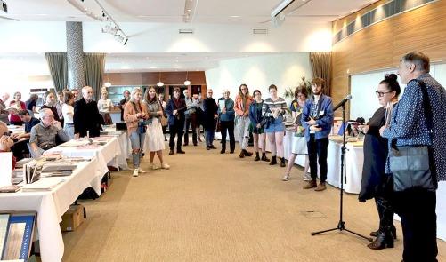 Ann Shelton launches Doug Spowart's NZ Photobook Compendium PHOTO: James Gilberd